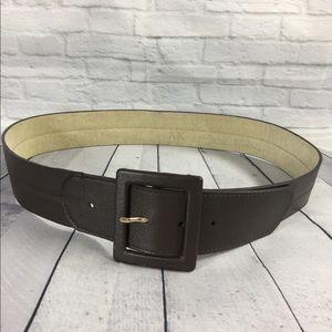 Anne Klein Women's Brown Leather Belt